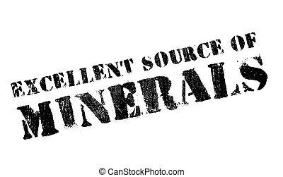 Excellent source of minerals stamp