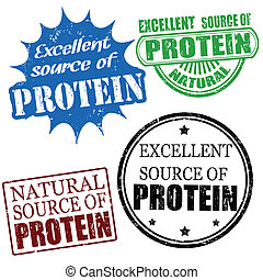 excellent source of protein stamps - Set of excellent source...