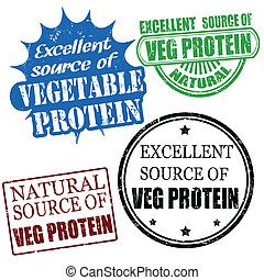 excellent source of vegetable protein stamps - Set of...