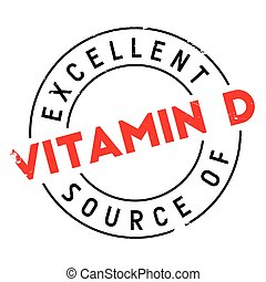 Excellent source of vitamin D stamp