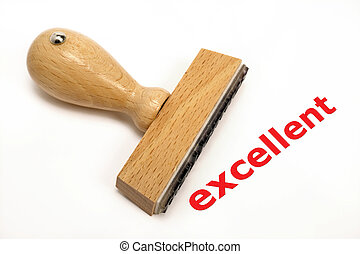excellent - rubber stamp marked with excellent