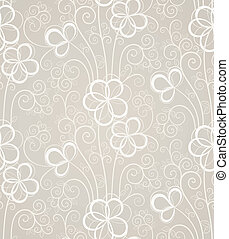 Excellent swirl floral seamless background