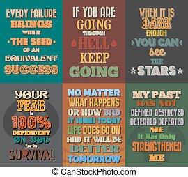 excepcional, conjunto, de motivación, citas, inspirador, ...