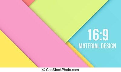 excepcional, moderno, color, material, diseño, plano de...