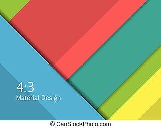 excepcional, moderno, illustration., formato, material, 16:9, vector, plano de fondo, design.