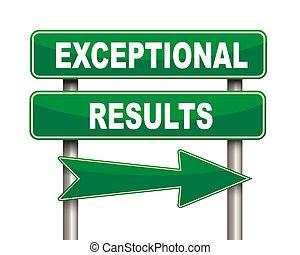 exceptionnel, vert, résultats, panneaux signalisations