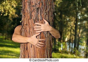 excepto, árboles