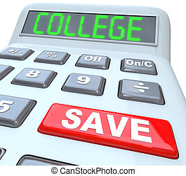 excepto, calculadora, -, ahorros, educación en colegio,...