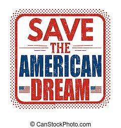 excepto, el, sueño americano, grunge, sello de goma