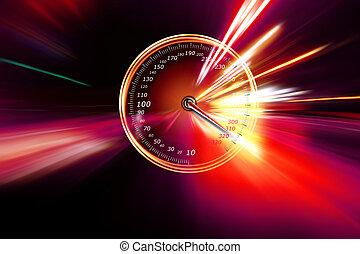 excessif, vitesse, compteur vitesse