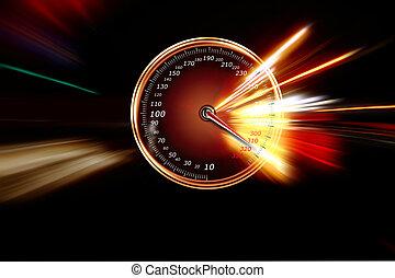 excessive speed on the speedometer