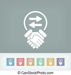 Exchange agreement icon