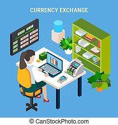 Exchange Banking Isometric Composition