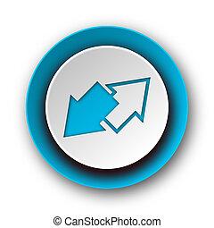 exchange blue modern web icon on white background