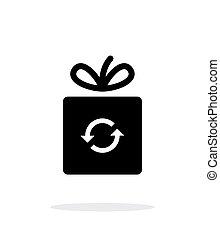 Exchange box icon on white background.