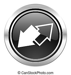 exchange icon, black chrome button