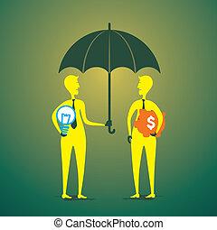 exchange idea and money concept