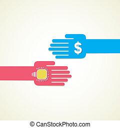 exchange idea and money