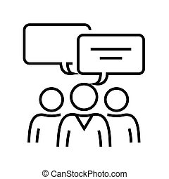 Exchange of opinions line icon, concept sign, outline vector illustration, linear symbol.