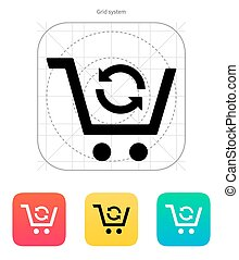 Exchange of product icon.