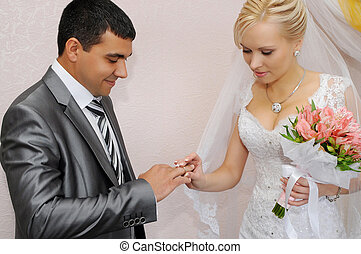 Exchange of wedding rings