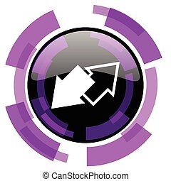 Exchange pink violet modern design vector web and smartphone icon. Round button in eps 10 isolated on white background.
