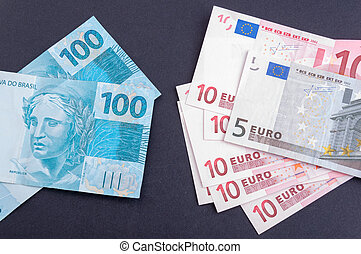 Exchange rate Brazilian money and European money