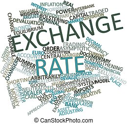 Exchange rate - Abstract word cloud for Exchange rate with...