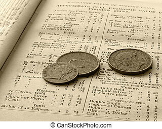 Exchange rate, coins