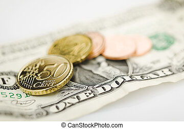Exchange rate - The dollar exchange rate against euro (bank...