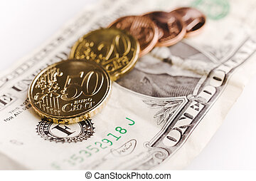 Exchange rate - The dollar exchange rate against euro (notes...