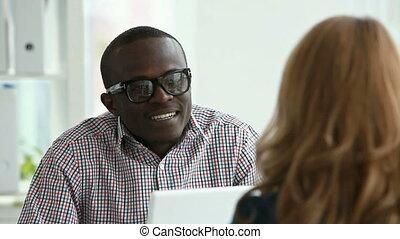 Exchange student - Young African-American exchange student...
