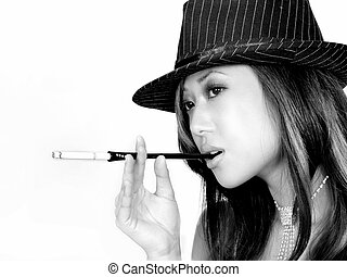excitado, fumante