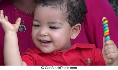 Excited Baby Boy Smiling