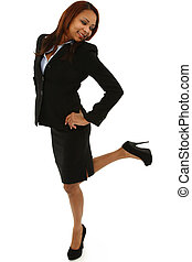 Excited Black Business Woman