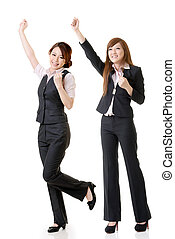 Excited business women
