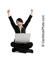 Excited businesswoman - A shot of an excited businesswoman...
