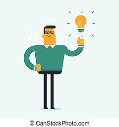 Excited caucasian businessman having business idea - Excited...