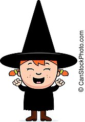 Excited Child Witch