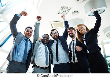 Excited co-workers