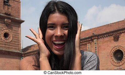 Excited Teen Girl
