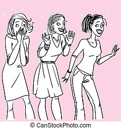 Excited women