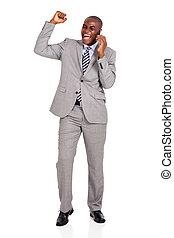 young african business man talking on cell phone