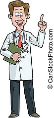 Exclaims the doctor - Cartoon doodle exclaims the doctor...