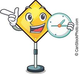 exclamação, dado forma, atenção, personagem, sinal, aviso, relógio