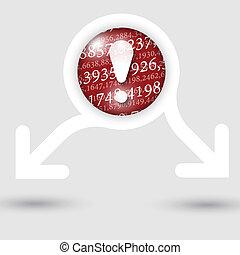 exclamação, texto, abstratos, setas, dois, textura, marca, números, quadro