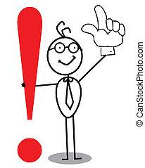 exclamación, atención, empresa / negocio, marca