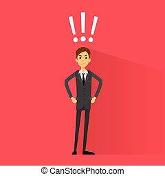 exclamación, empresa / negocio, marca, vector, excitado, ...