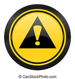 exclamación, señal, icono, amarillo, logotipo, señal de...