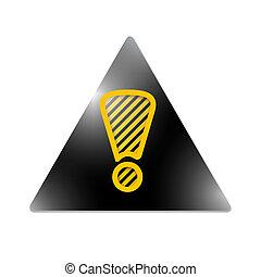 exclamación, triángulo, marca